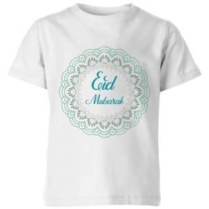 Eid Mubarak Rainbow Mandala Kids' T-Shirt - White