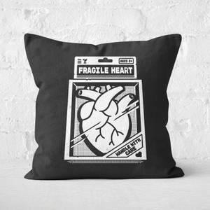 Fragile Heart Square Cushion