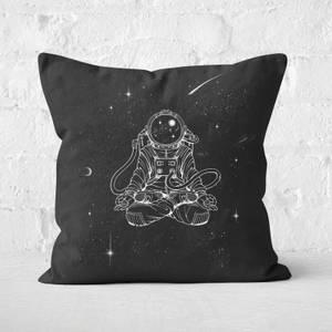 Zen Astronaut Square Cushion