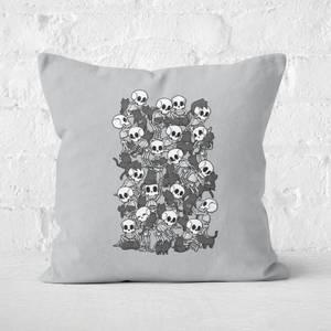Cat Skull Party Square Cushion