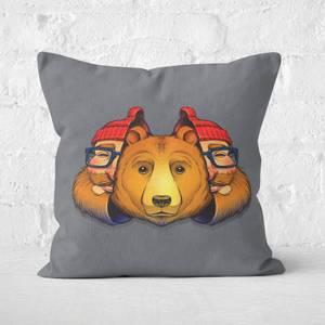 Bear Inside Square Cushion