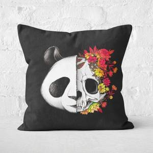 Panda Skull Rock Square Cushion