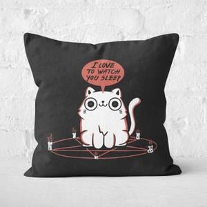 I Love To Watch You Sleep Square Cushion