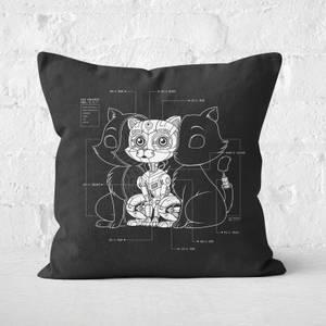 Cat Inside Square Cushion