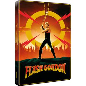 Exclusivité Zavvi : Steelbook Flash Gordon (Édition 40ème Anniversaire) 4K Ultra HD & Blu-ray (3 disques)