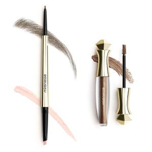 mirenesse All Day Micro Brow Pencil and Shaping Mascara Set - 2 Silk Brown