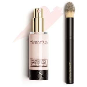 mirenesse Glow Booster Professional Makeup SPF15 Base and Brush