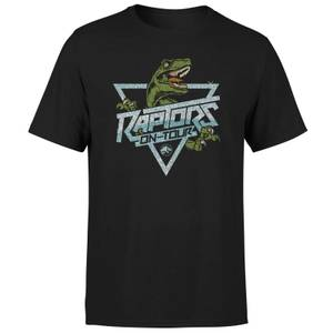 Jurassic Park Raptors On Tour Stroke Men's T-Shirt - Black