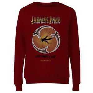 Jurassic Park Life Finds A Way Tour Women's Sweatshirt - Burgundy