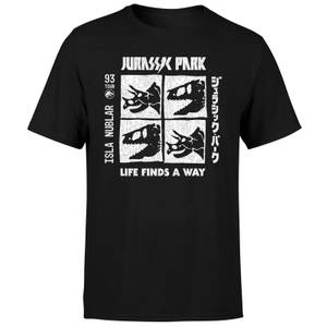 Jurassic Park The Faces Men's T-Shirt - Black