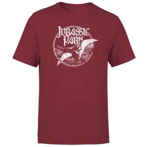 Jurassic Park Flying Threat Men's T-Shirt - Burgundy