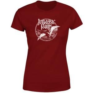 Jurassic Park Flying Threat Women's T-Shirt - Burgundy