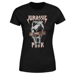 Jurassic Park Rex Punk Women's T-Shirt - Black