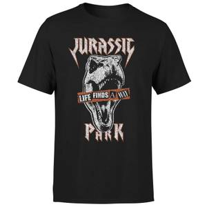Jurassic Park Rex Punk Men's T-Shirt - Black