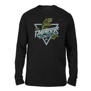 T-shirt Jurassic Park Raptors On Tour Stroke Long Sleeved - Noir - Unisexe