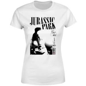 T-shirt Jurassic Park Isla Nublar Punk - Blanc - Femme