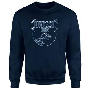 Sweat-shirt Jurassic Park Logo Metal - Bleu Marine