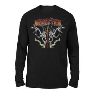 Jurassic Park Raptor Twinz Unisex Long Sleeved T-Shirt - Black