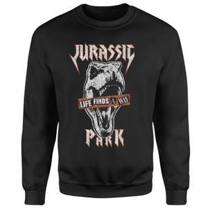 Sweat-shirt Jurassic Park Rex Punk - Noir