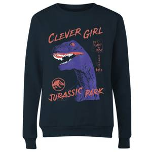 Jurassic Park Life Finds A Way Raptor Women's Sweatshirt - Navy