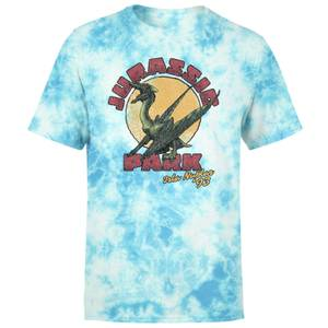 Jurassic Park Winged Threat Unisex T-Shirt - Light Blue Tie Dye