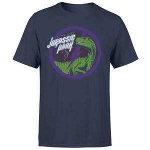 Jurassic Park Raptor Bolt Men's T-Shirt - Navy
