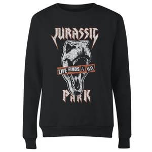 Jurassic Park Rex Punk Women's Sweatshirt - Black