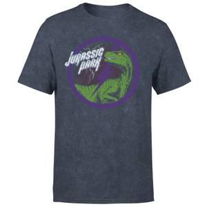 Jurassic Park Raptor Bolt Unisex T-Shirt - Navy Acid Wash