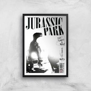 Jurassic Park Life Finds A Way Giclee Art Print