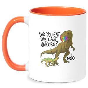 Did You Eat The Last Unicorn? Mug - White/Orange