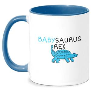 Babysaurus Rex Mug - White/Blue