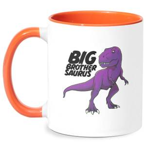 Im A Big Brothersaurus Mug - White/Orange