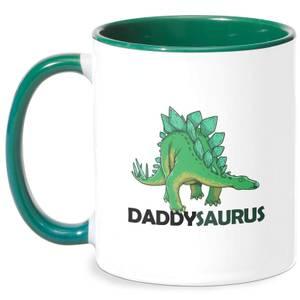 Daddysaurus Mug - White/Green