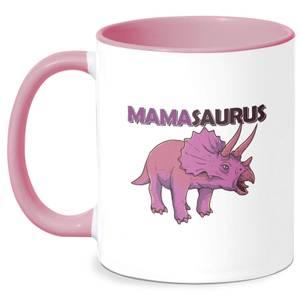 Mama Saurus Mug - White/Pink