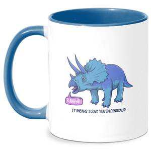Rawr It Means I Love You Mug - White/Blue