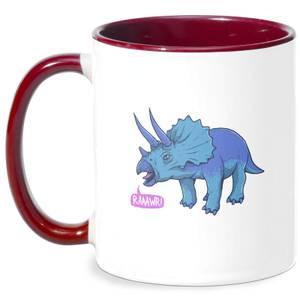 Rawr It Means I Love You In Dinosaur Mug - White/Burgundy