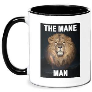 The Mane Man Mug - White/Black