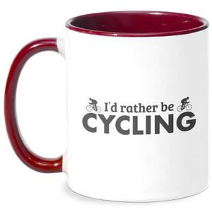 I'd Rather Be Cycling Mug - White/Burgundy