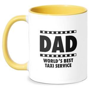 Dad Taxi Service Mug - White/Yellow