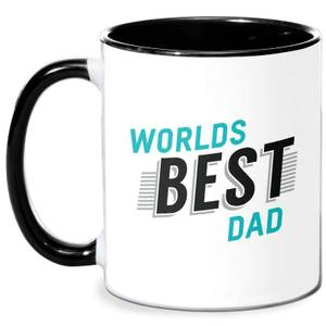 Worlds Best Dad Mug - White/Black