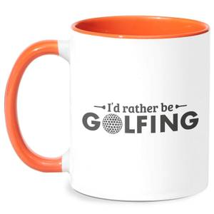 Id Rather Be Golfing Mug - White/Orange