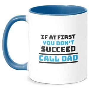 Call Dad Mug - White/Blue
