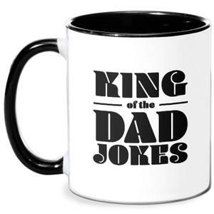 King Of The Dad Jokes Mug - White/Black