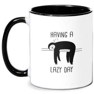 Having A Lazy Day Mug - White/Black