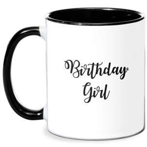 Birthday Girl Mug - White/Black