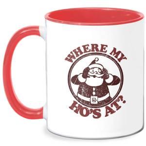 Where My Ho's At Mug - White/Red