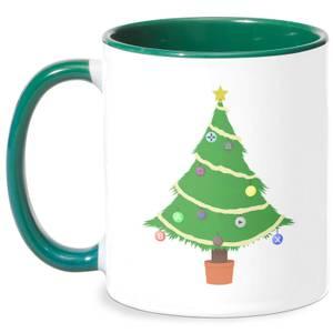 Buttons Tree Mug - White/Green