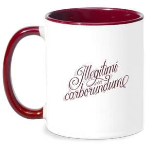Illegitimi Mug - White/Burgundy