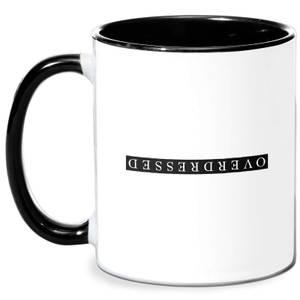 Overdressed Black Mug - White/Black