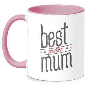 Best Foster Mum Mug - White/Pink
